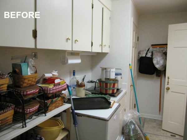 BEFORE Cluttered Pantry