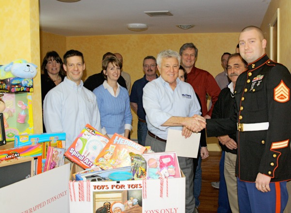 McClurg presents Toys for Tots
