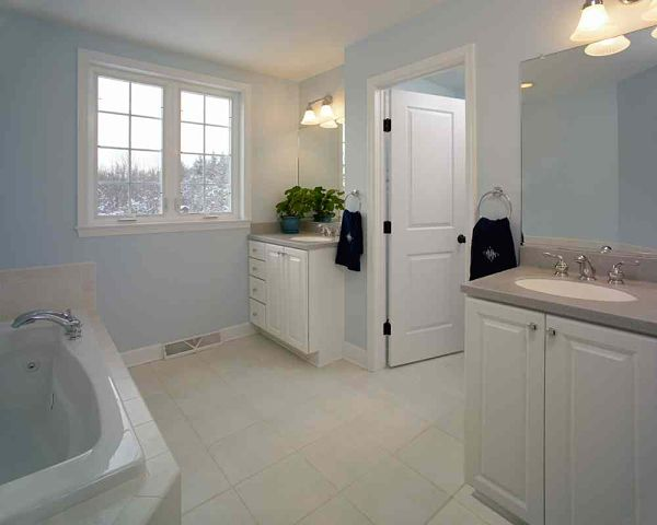 master bathroom retreat with neutral colors