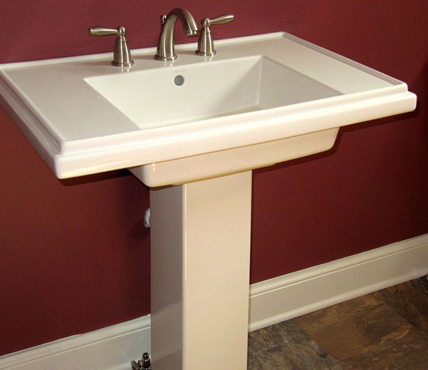 bathroom sink with lever handles