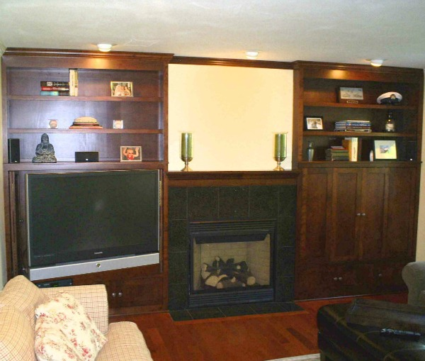 custom basement entertainment center