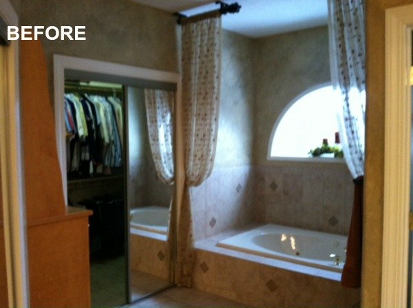 BEFORE: master bath and closet