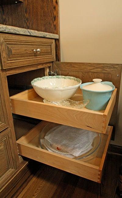 kitchen pullout storage cabinet