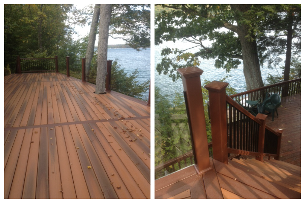 deck and railings collage