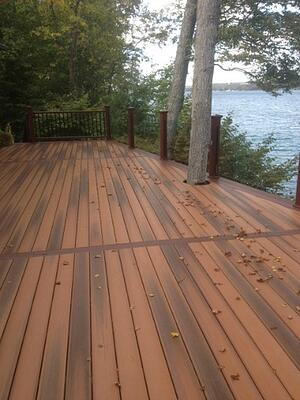 deck with lake view