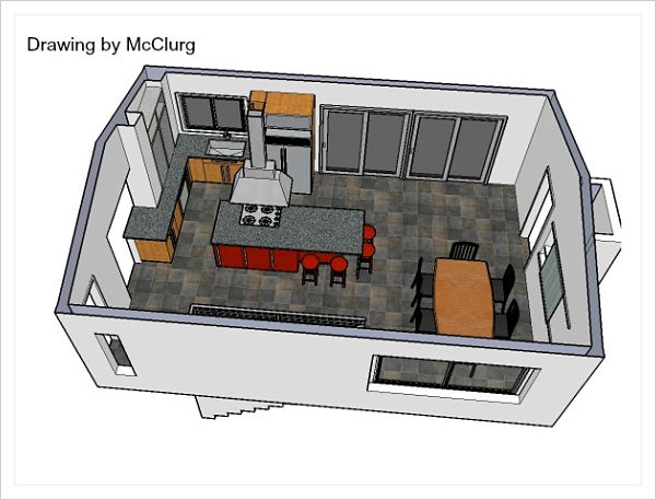 kitchen drawing by McClurg