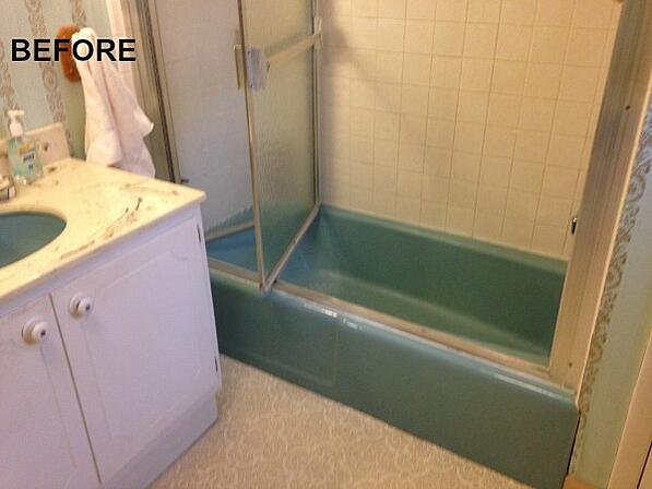 BEFORE: tub and bath combo