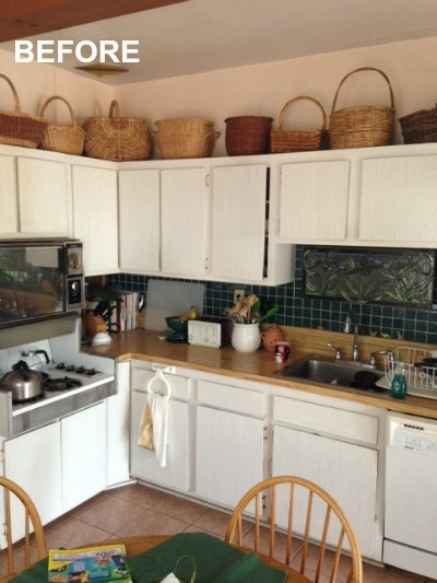 BEFORE: kitchen cabinets