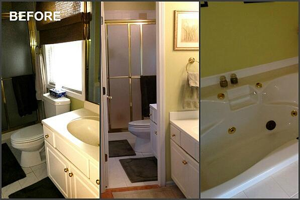 BEFORE: master bath collage