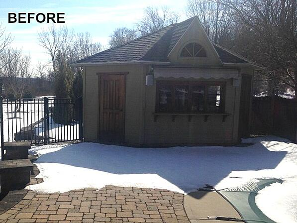Before: pool house