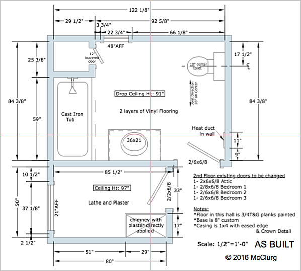 Master Bath As-Built Drawing