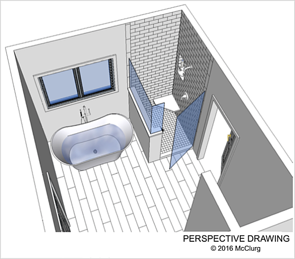 Master Bath Perspective Drawing