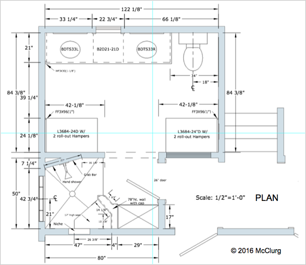 Master Bath Plan Drawing