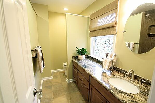 bathroom with privacy wall