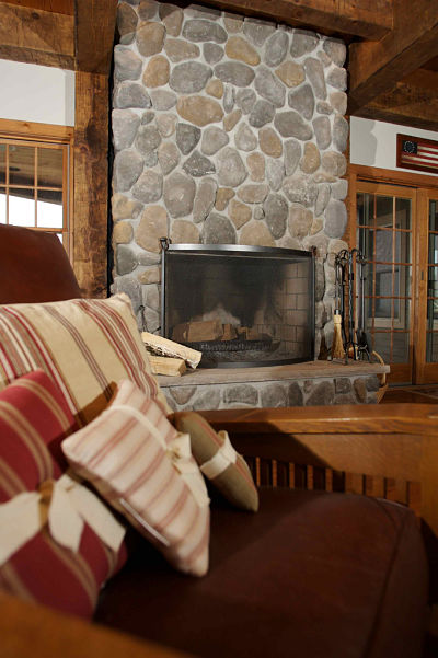Design Ideas For Interior Stone Walls And Fireplaces