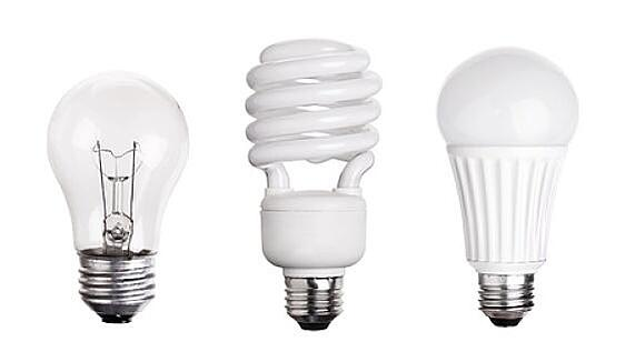 Incandescent, CFL and LED Light Bulbs