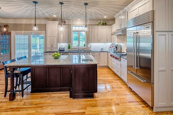 kitchen addition with large island