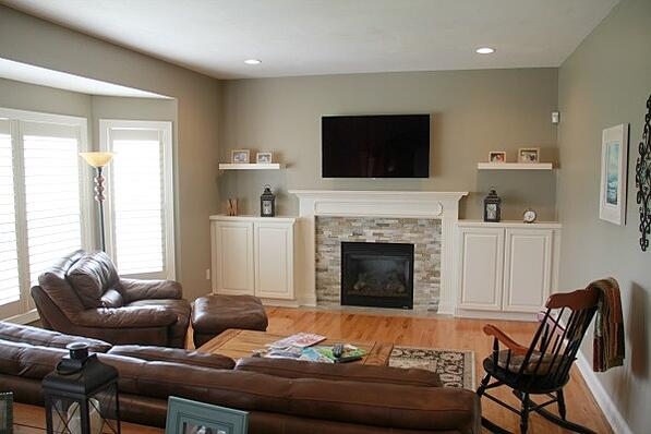 Living Room with Fireplace Makeover