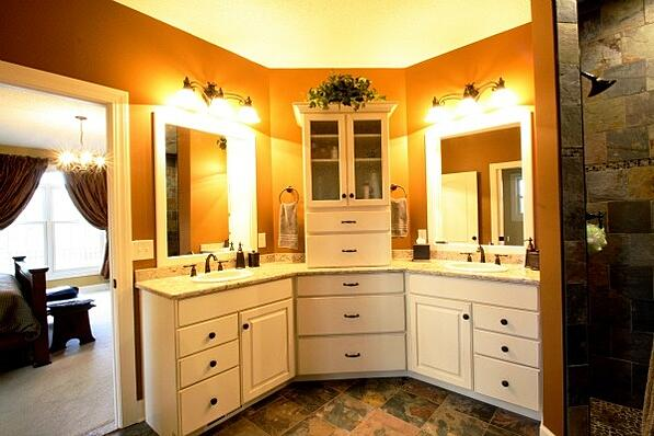 master bath with custom storage