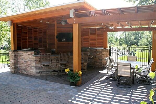 pavilion and pergola outdoor living space