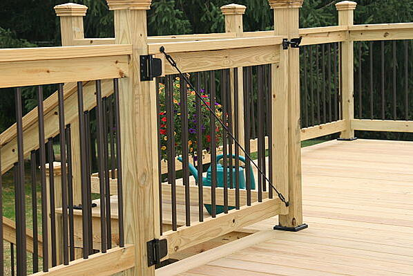pressure treated deck with hidden fastener system