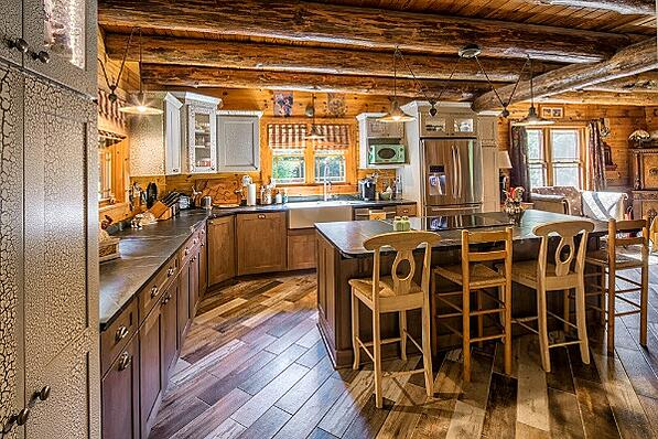 rustic kitchen with island