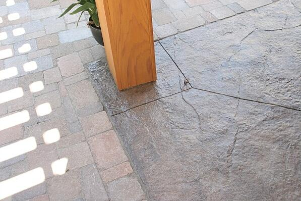 stamped concrete flooring closeup