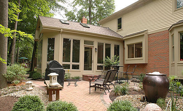 three-season sunroom and patio