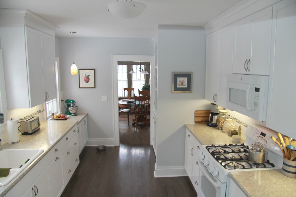 A Galley Kitchen Was Brought Up To Date And Restored To Reflect The Original