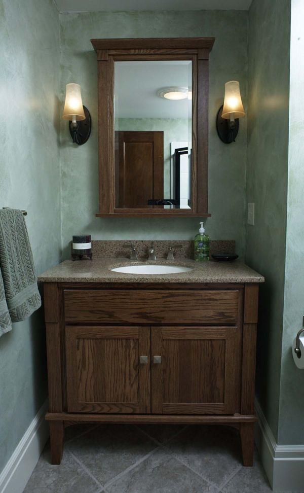 Open E On The Sides And Legs Under Vanity Replicate Look Of A Piece