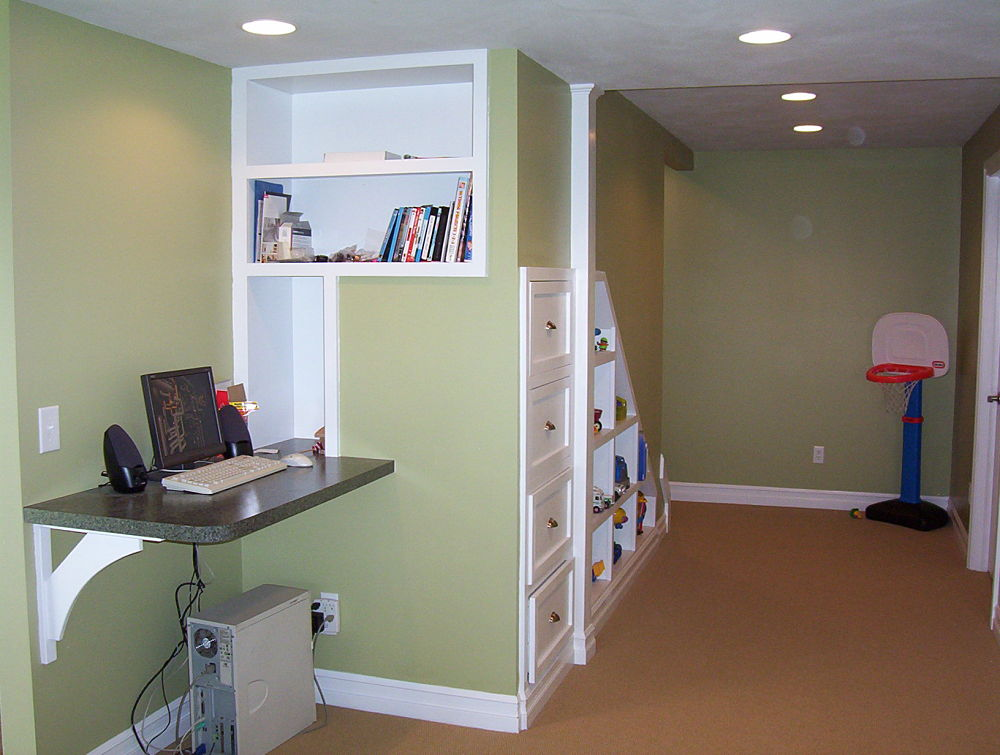 Built in storage and cabinet design ideas photos and descriptions - Finished basement storage ideas ...