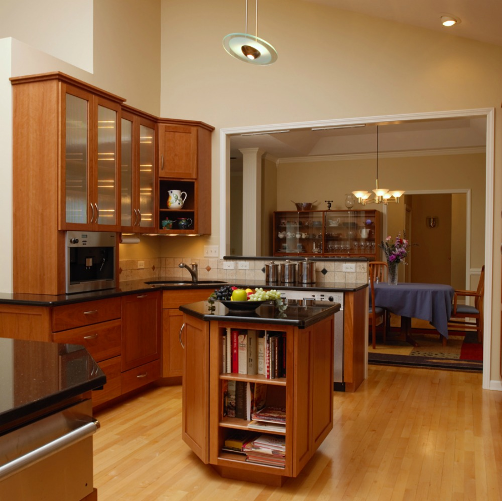 Open Shelves Create Visible And Easily Accessible Storage. In This Kitchen  There Are Open Shelves