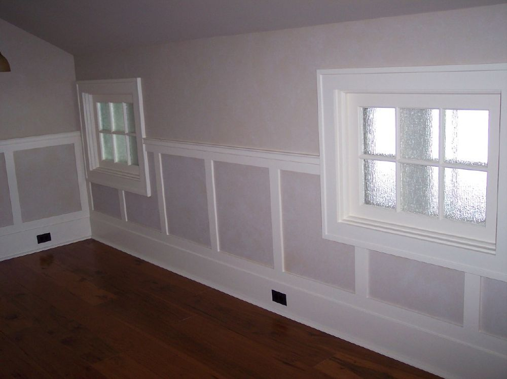 This simple judges paneling was added to these drywall walls to create some more character in this second floor bedroom.