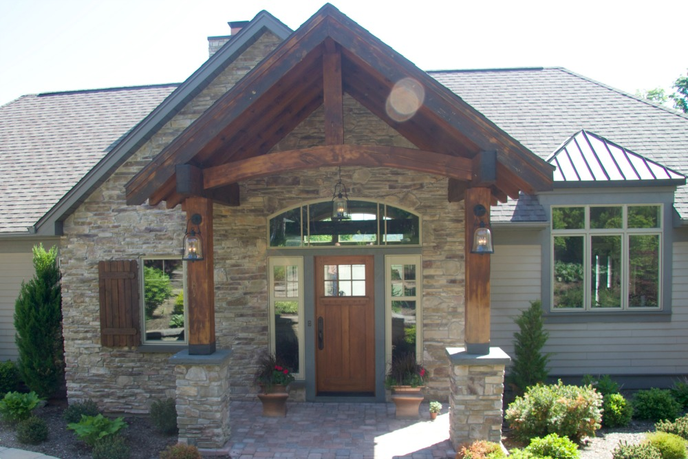 Front Entrance Ideas Part - 37: This Exquisite Front Entry Features Stunning Post And Beam Architectural  Details. The Front Door Is