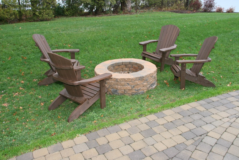 This firepit allows users to enjoy outdoor living on cool evenings.