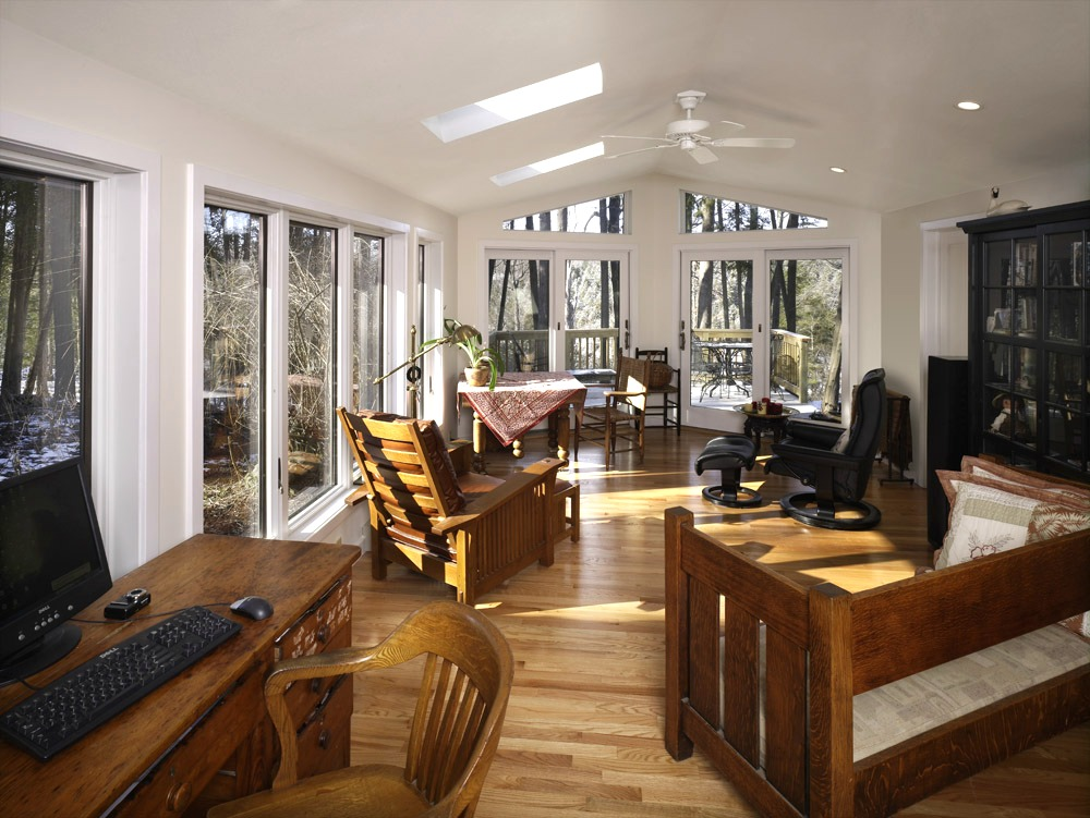 This Addition Is Unique In That It Features Many Different Angles. Natural  Light Floods The