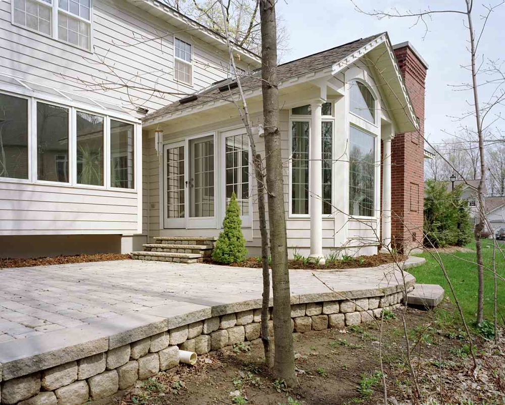 living room addition. The exterior of this living room addition incorporates all the existing  details making Home Addition Contractors Construction Syracuse CNY