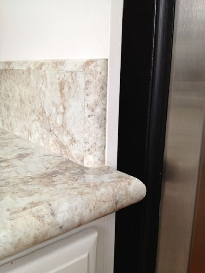 Countertop Bullnose Options : ... as a counter surface with a bullnose edge and 4-inch backsplash