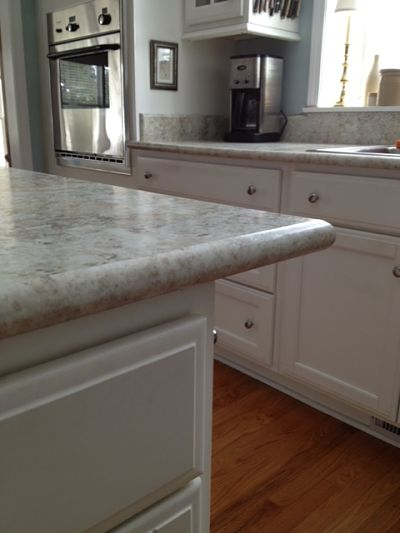 formica countertop with crescent edge