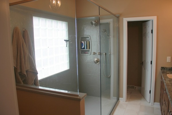 Project Of The Month: Master Bath With A Doorless Walk In Shower Part 66